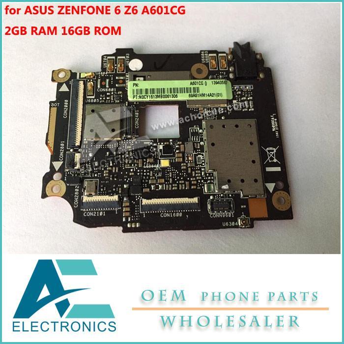 Mainboard For ASUS ZENFONE 6 Z6 Motherboard 16GB Rom 2GB RAM Logic