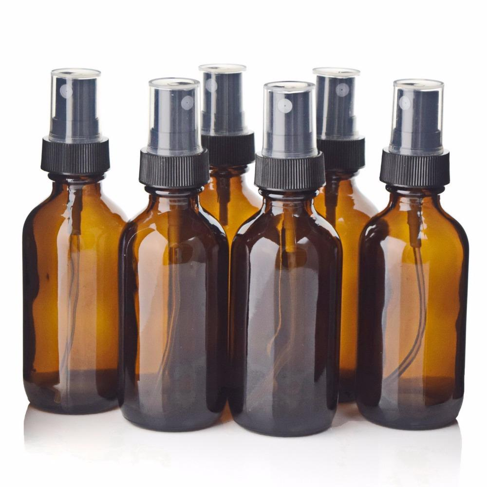 e24666dd1d0c 6pcs 2 Oz 60ml Amber Glass Spray Bottle with Fine Mist Sprayer for  Essential Oils Aromatherapy Perfume Empty Cosmetic Containers