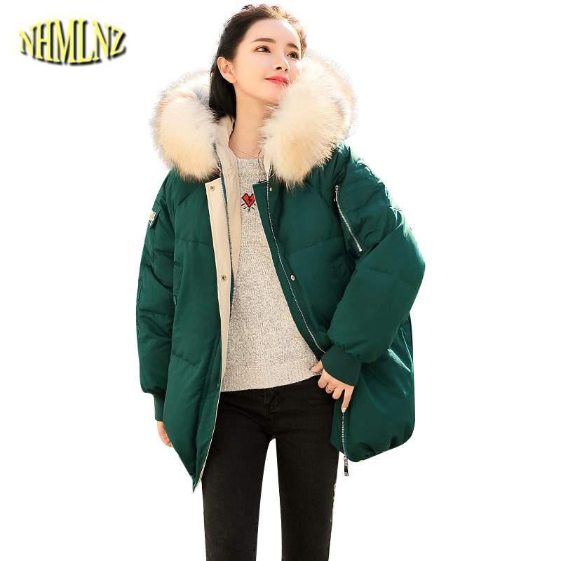 14b5ce67020 Fashion Women Down Jacket Thicker Warm 2018 Winter New Hooded Fur ...