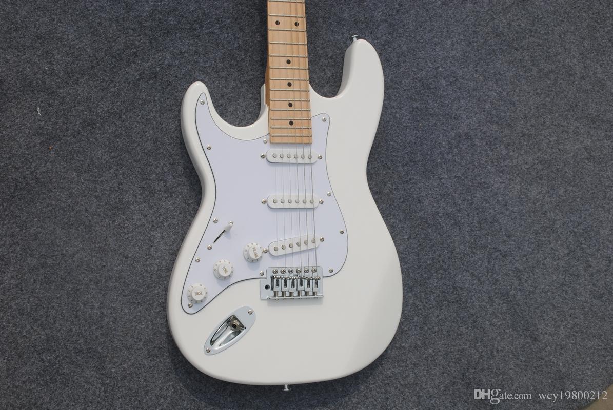 NEW Mint White mão esquerda Guitarra Elétrica Branco da china Frete Grátis