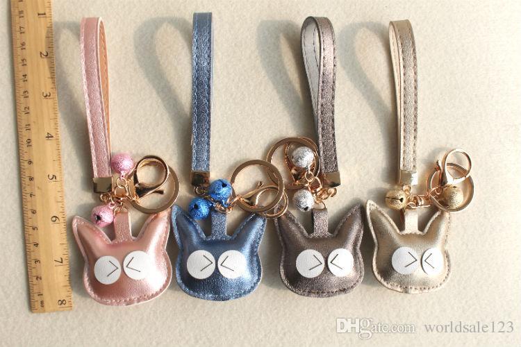 Fashion Cute PU Leather Cat Kitten Keychain Animal Key Chain Car Key Ring  Keyring Key Holder Women School Bag Accessories Pendant Interior Parts Of  Car ... 64bb9cd862