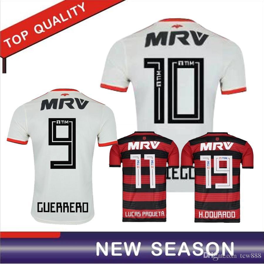 a1a4ffd22 2019 Flamengo Away White Soccer Jersey 18 19 DIEGO Flamengo Soccer ...