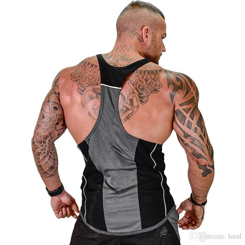 a2d61842 2019 Mens U Neck Fitness Sports Tank Tops Aerobics Clothing Male Gym  Workout Sleeveless Body Hugging Vests From Loral, $23.48 | DHgate.Com