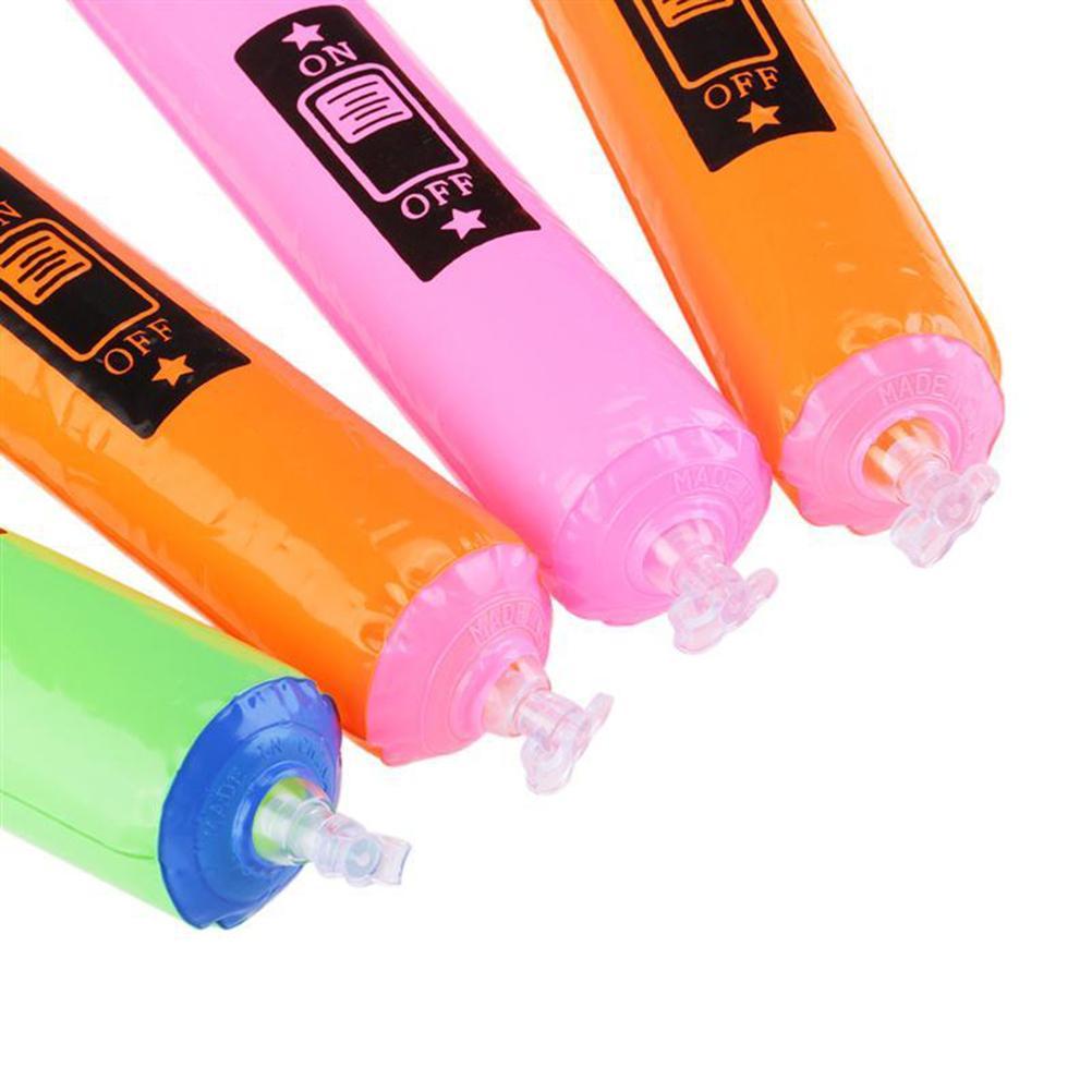 6 Adet 24 CM Parti Favor Çocuklar Oyuncak Hediye Havaya Uçurmak için Şişme Plastik Mikrofon Rastgele Renk Parti Iyilik Çocuklar Doğum Günü