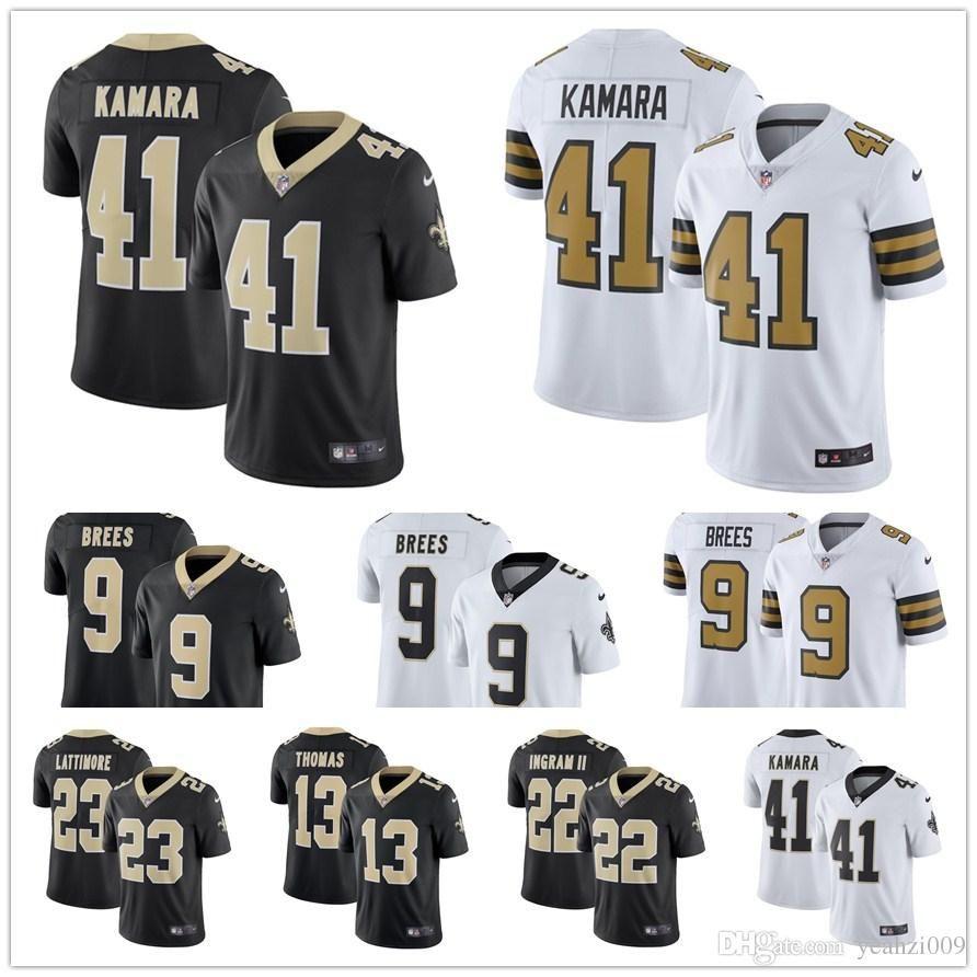 Men 41 Alvin Kamara New Orleans 9 Drew Brees Jersey Mens Saints 23 ... 48f70b870