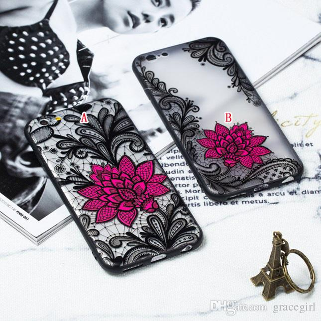 ea6496c81a Lotus Flower TPU PC Hard Case For Iphone X XS MAX XR 8 7 Plus I7 6 6S 5 5S3  5 6 8 Floral Mandala Lace Paisley Henna Skin Cover UK 2019 From Gracegirl,  ...