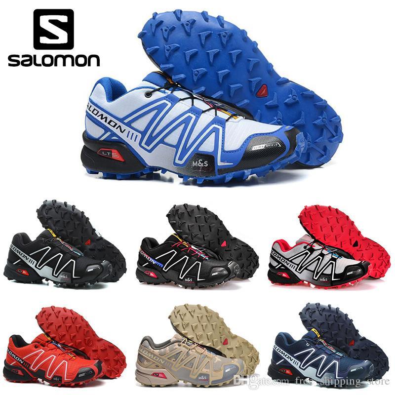 the latest 9a8c7 9bdc8 Acheter Nouveau Salomon Speedcross 3 CS Hommes Chaussures De Course Noir  Rouge Sable Hommes Sneakers Légers Zapatos Étanche Sport Athlétique  Pointure 40 46 ...