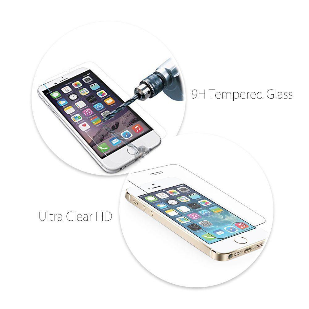 PURE KASE Displayschutzfolie für Xiaomi MIX2, hochwertige Hartglasfolie mit Einzelhandelsverpackung