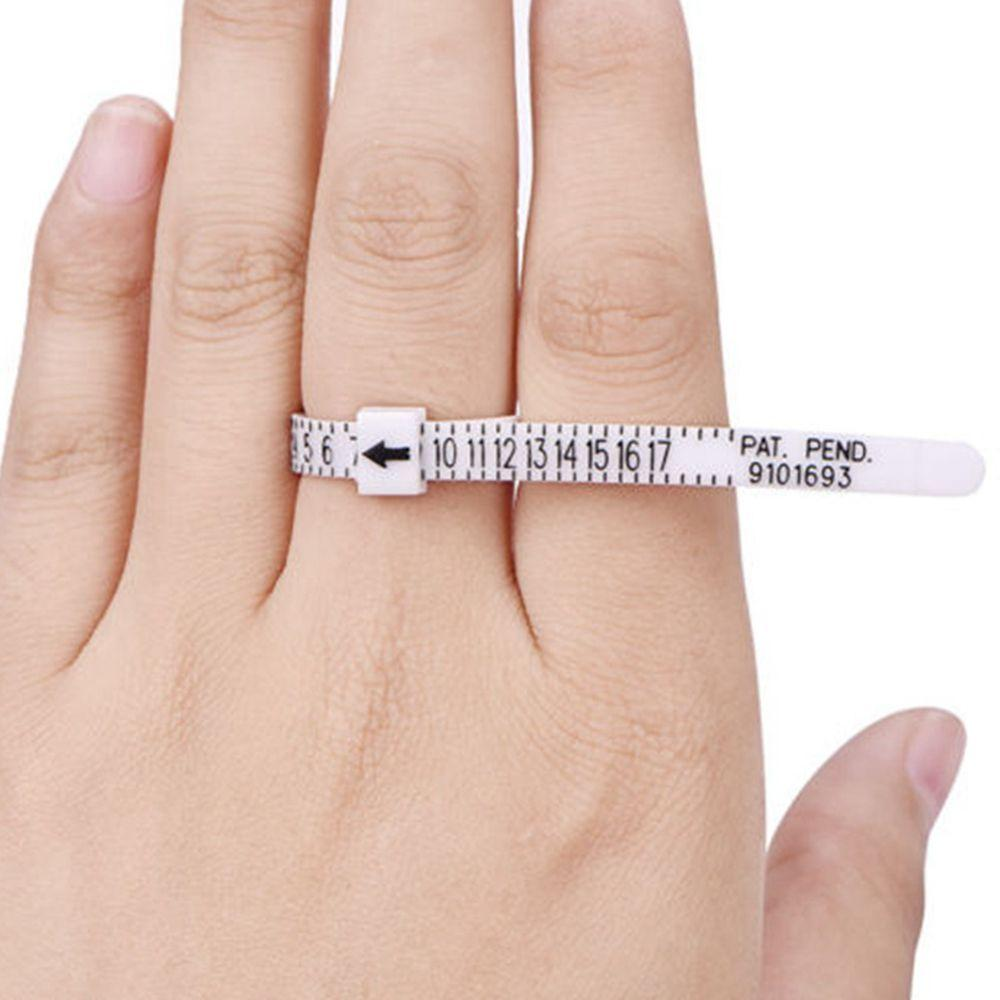1 pc US/UK Helpful Finger Gauge Ring Sizer Measure For Wedding Ring Band Daily Life Measure Finger Gauge Jewelry Tools