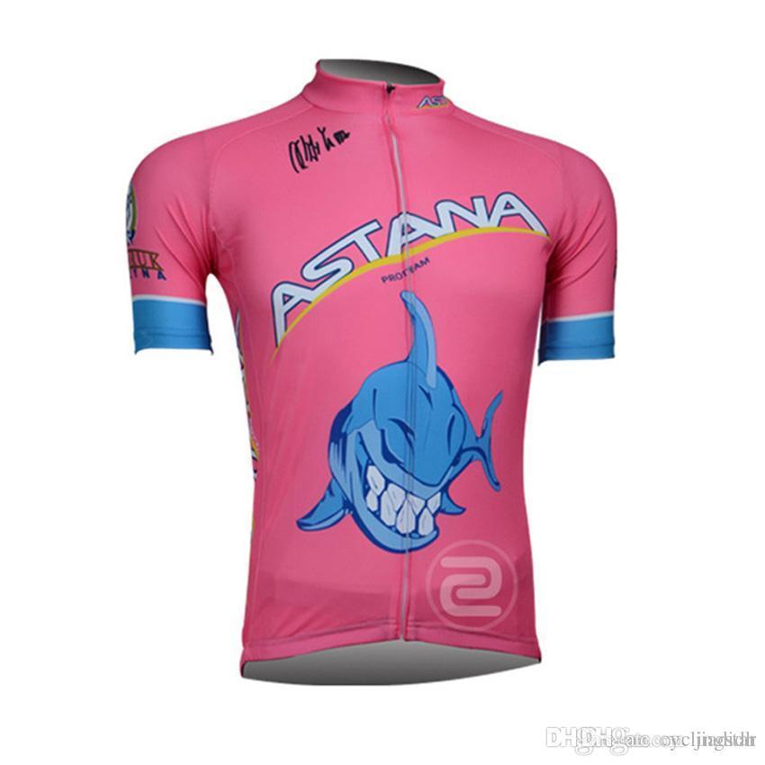 83a7db8ea New 2017 Astana Cycling Jersey Bike Short Sleeve Shirts Quick Dry ...