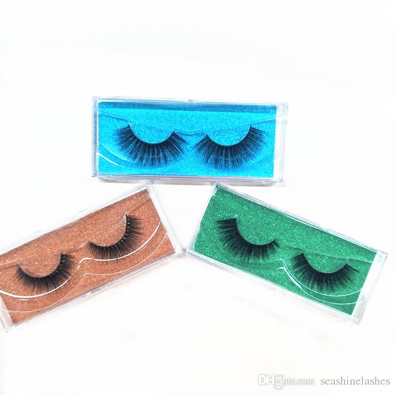 Seashine Natural Mink Strips Thick Cross Natural False Eyelash 3D Eyelash Extensions factory supply for sale