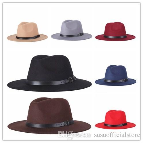 84eb5584 2019 2018 New Women'S Fashion Jazz Hat Fashion Men Fedoras Spring Winter  Black Woolen Blend Cap Outdoor Trilby Hat From Susuofficialstore, $5.5    DHgate.Com