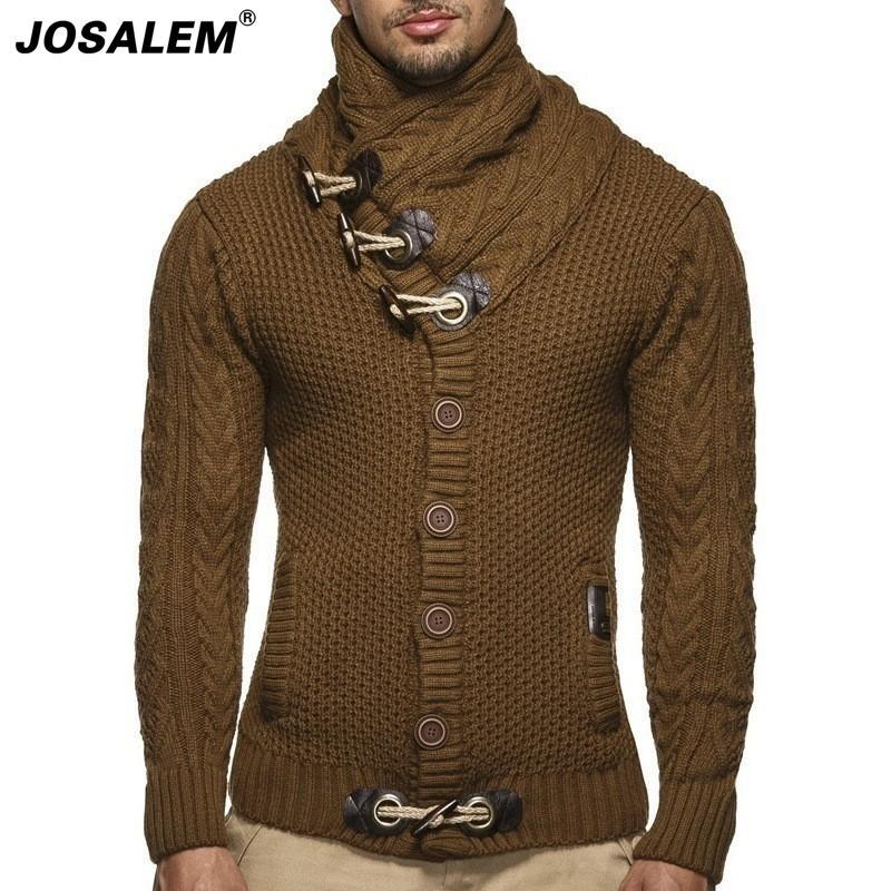 Compre JOSALEM 2018 Otoño Invierno Moda Gruesa Hombres De La Marca Cardigan Suéter  Hombres Ropa De Punto Jumper Casual Loose Man Knitwear A  50.69 Del Bairi  ... 1584ffcafd4b