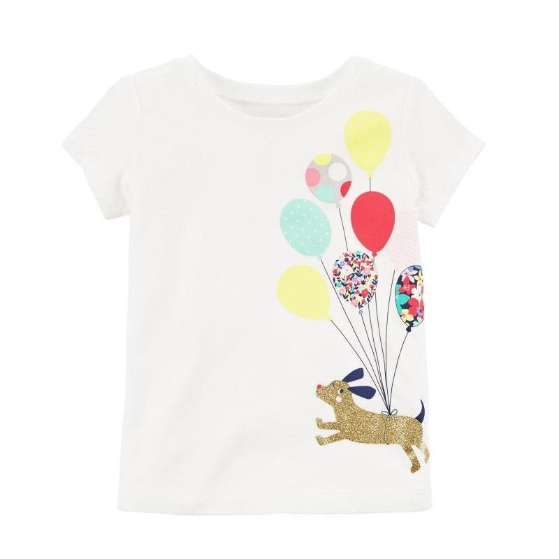 87819e454250b Acheter Mode Bébé Fille T Shirts Chemises Ballon Nouveau Né Vêtements Tops  100% Coton Enfants T Shirt Blouse Enfant En Bas Âge De Bébé De  231.16 Du  ...