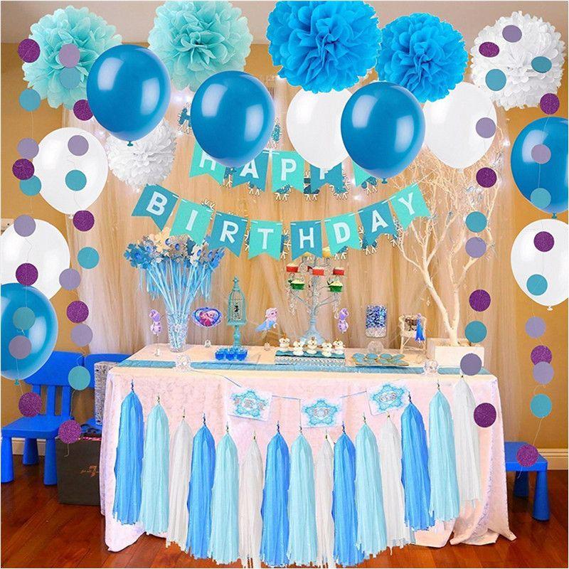 Compre Frozen Theme White And Blue Party Decoraciones Para