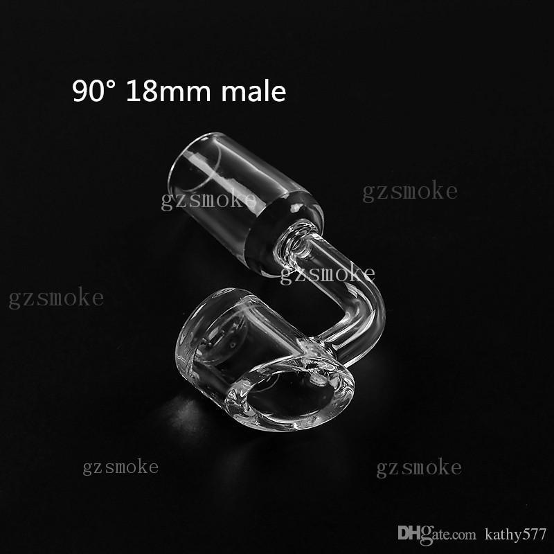 석영 깡패 4 mm 두께 domeless 100 % 진짜 크리스탈 석 영 손 봉 90도 18 mm 14 mm 남성 여성 왁 스 45도 금연 액세서리