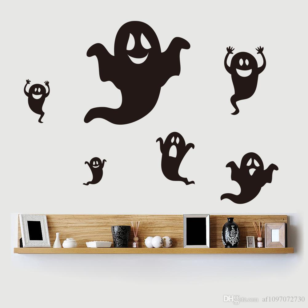 Personalizzato Wallpaper PVC Creativo Hot Halloween Wall Sticker Bar Haunted House Party Decorative Murale Qualsiasi disegno e dimensione può essere personalizzato