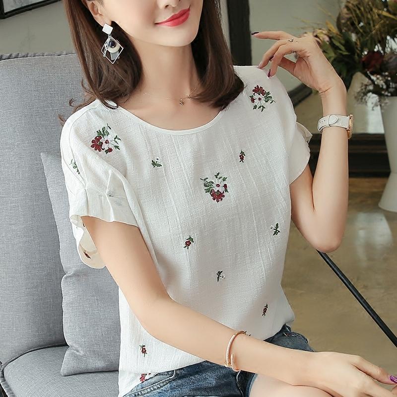 578743f6 Women'S T Shirts And Short Sleeves 2018 Summer New Big Code Women'S Korean  Plate Collar Shirt Loose White T Shirt Rude T Shirt Shirt With T Shirt From  ...