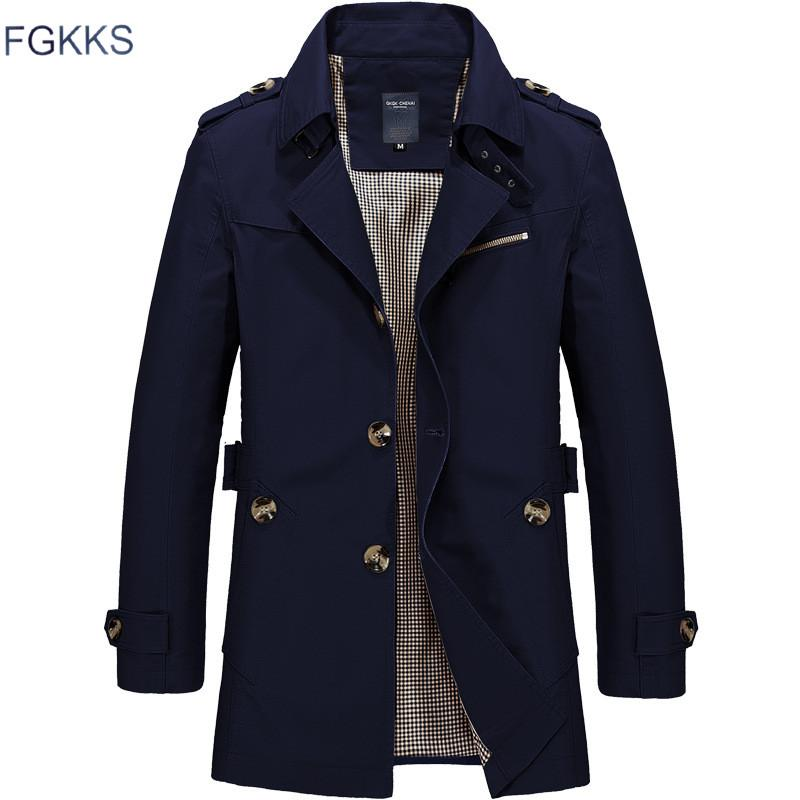 64ee2fa496a FGKKS Men Jacket Coat Long Section Fashion Trench Coat New Brand Casual Fit  Overcoat Jacket Outerwear Jacket Mens Jacket Styles From Cagney, $38.18|  DHgate.