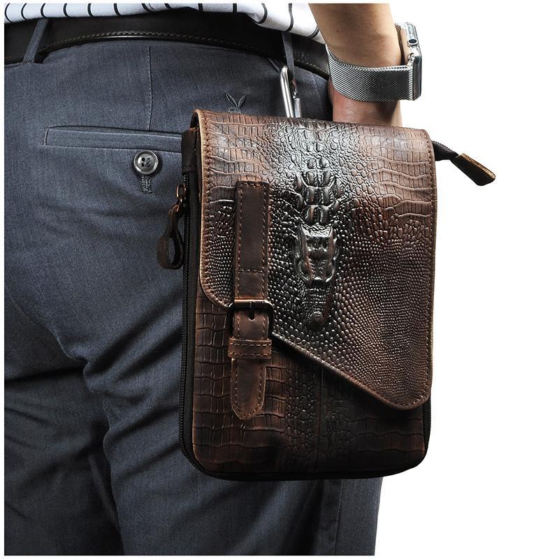 47c15589064aa Großhandel Original Leder Männer Casual Design Multifunktions Kleine Umhängetasche  Umhängetasche Reise Mode Taille Gürtel Pack Tablet Tasche 611 1c Von ...