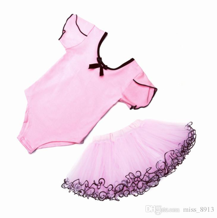 9b4acc9f7b5f 2019 New Girls Kids Ballet Tutu Dance Elegant Dress Dancewear Party ...