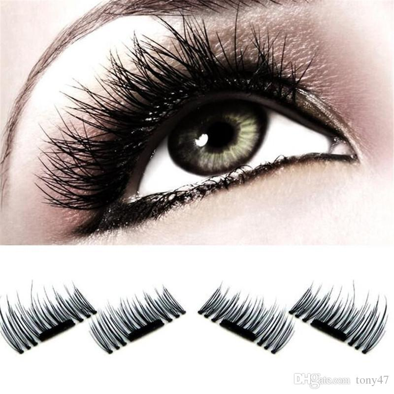Hottest Magnetic Eye Lashes 3d Reusable False Magnet Eyelashes
