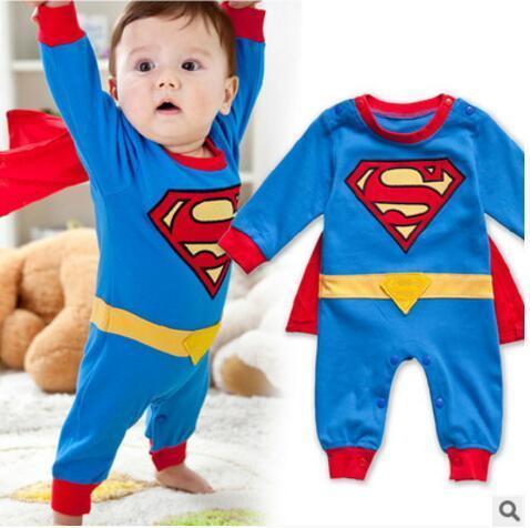 385054a0ce868 Acheter Bébé Garçon Barboteuse Superman À Manches Longues Avec ...