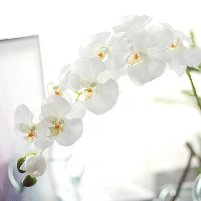 96 cm Real Touch Orquídea de Seda de la Flor Artificial 11 cabezas mariposa orquídea Flores para la Fiesta de Boda Inicio Festival Decoración