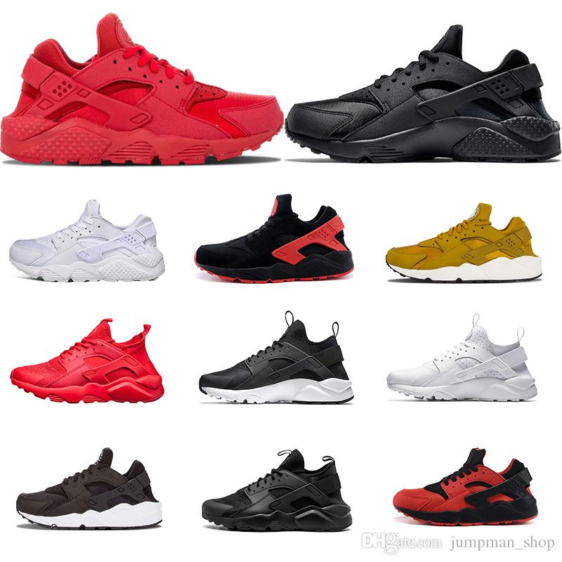 3742a430a37e 2018 Air Huarache Running Shoes 1.0 4.0 I IV Triple White Black Red Yellow  Grey Huaraches Mens Womens Shoes 36 45 Trail Running Shoes Womens Running  Shoes ...