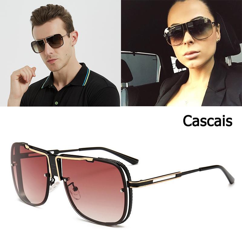 11c7c8f190c4a Compre JackJad Moda Fresco Único Estilo Quadrado Aviação Cascais Óculos De  Sol Dos Homens Da Marca De Design Óculos De Sol Oculos De Sol Masculino  1733 De ...