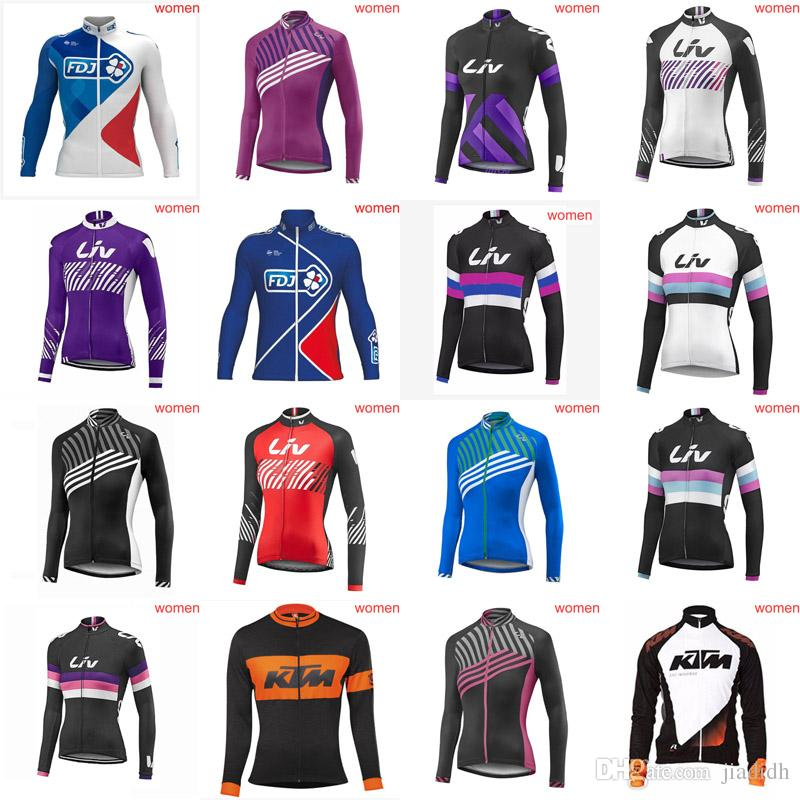 LIV ORBEA Team Cycling Long Sleeves Jersey Women Windproof Breathable Lightweight  Jerseys Best Selling Bicycle Clothes 19 D713 Cheap Cycling Clothing Bike ... e26d730ca
