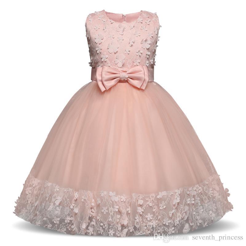 66ddb9c7d Christening Baby Flower Princess Dress for Wedding Formal Wear Girl ...