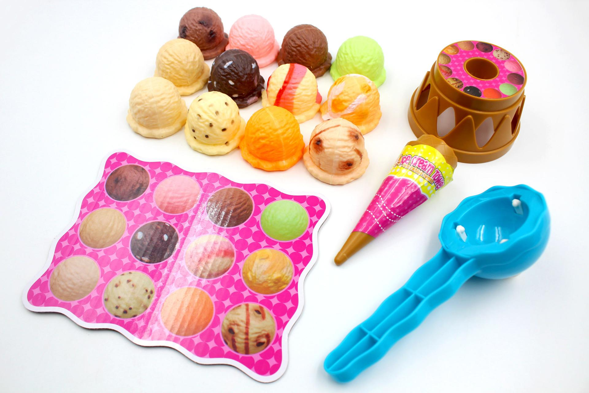 2018 Simulated Ice Cream Tower Scoops Cone Stack Family Party Desk ...