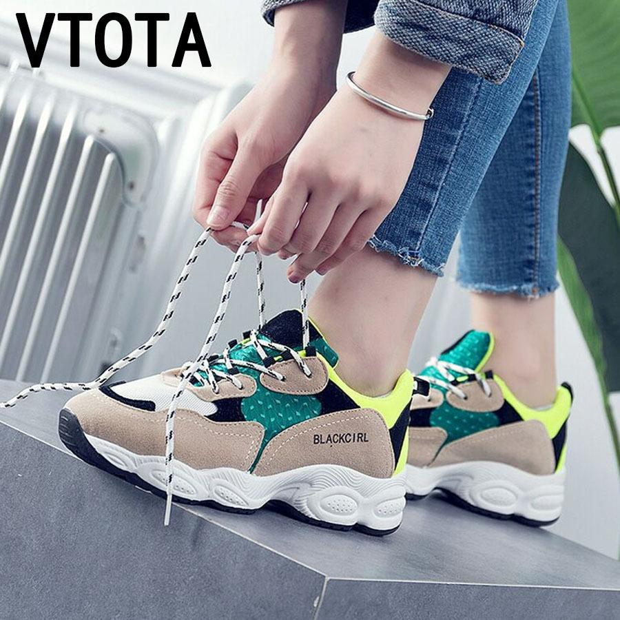 Acquista 2019 VTOTA Donna Estate Sneakers Donna 2018 Lace Up Tenis Feminino Scarpe  Casual Zeppe Con Zeppa Piattaforma Scarpe Zapatillas Mujer H75 Sneakers A  ... 3b5c46957f0