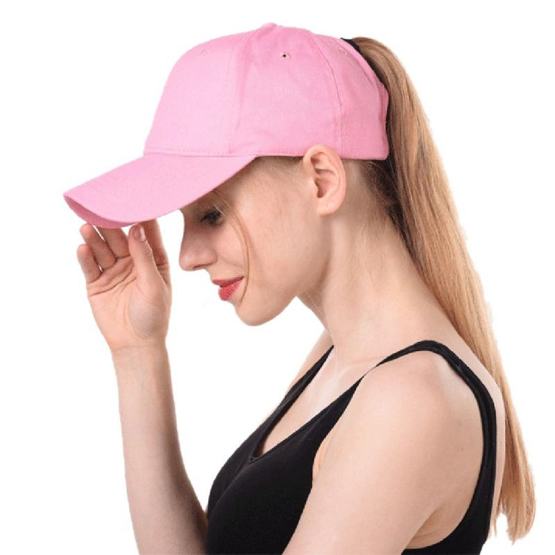2019 Outdoor Summer Ponytail Sports Cap Women Sunshade Hiking Running Hat  Solid Color Quick Dry Breathable Fabric Comfortable From Xuelianguo 690dc99172e