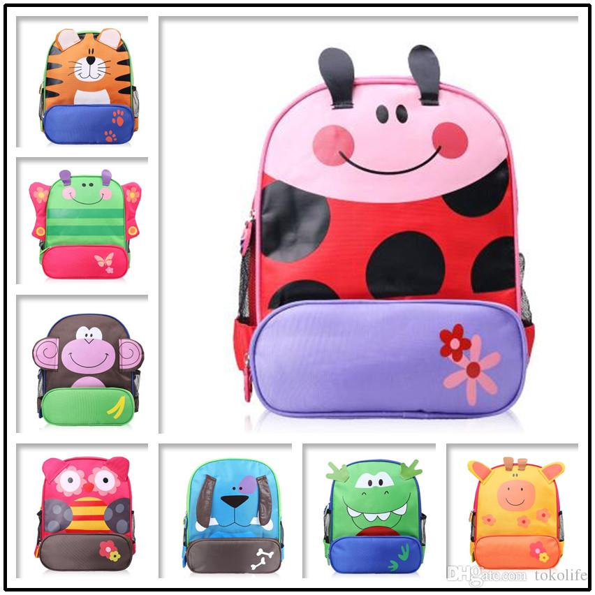 74f968387e Kids Cartoon Animal Shoulder Bags Boys Girls Cute Backpacks Schoolbags Children  Baby Toddler Canvas Handbag Tote Bags For Students Kids Backpacks On Sale  ...