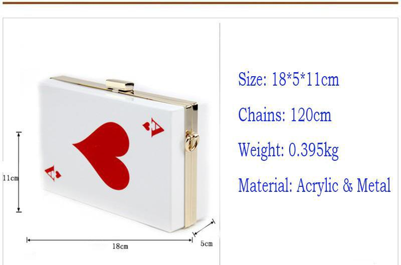 Best Price Hot Acrylic Evening Bags! Brand Designer Clutch Women Queen Handbag Purse Hard Chain Box Perfume Bag Plastic Poker - RC031