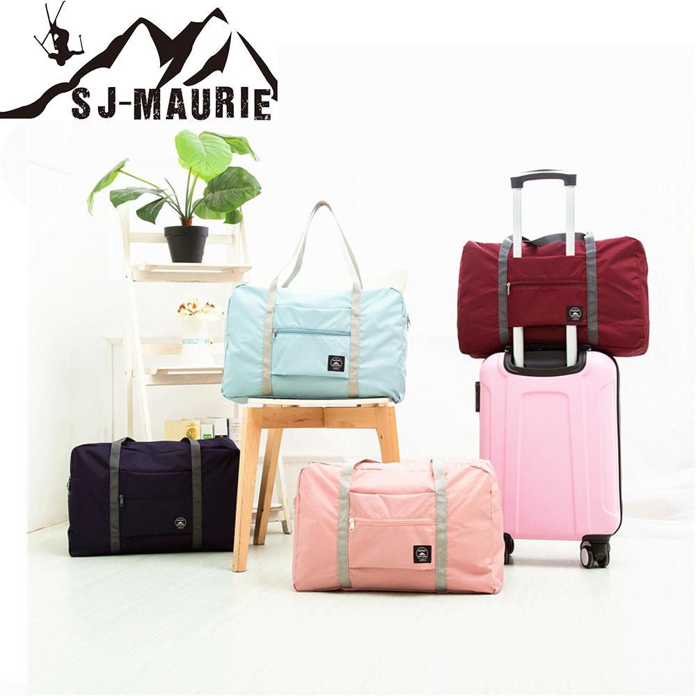 60154ea554 2019 SJ Maurie Hot Sports Folding Storage Outdoor Training Travel HandBag  Large Capacity Women Fitness Yoga Duffle Gym Bag 48x16x32cm From Fwuyun