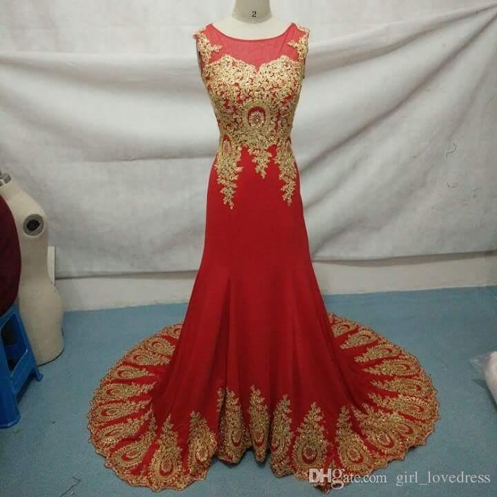 Real Photos Women Sleeveless Robe De Soiree Mermaid Red Long Evening Dress Party Elegant Vestido De Festa Appliques Prom Dresses for Wedding