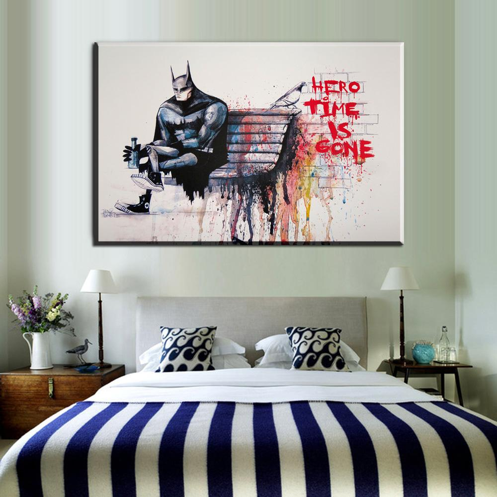 Graffiti Bedroom Art Paint Colors For Bedroom Youth Bedroom Sets Simple Little Boy Bedroom Ideas: 2019 ZZ1953 Graffiti Banksy Street Art Prints Hero Time Is