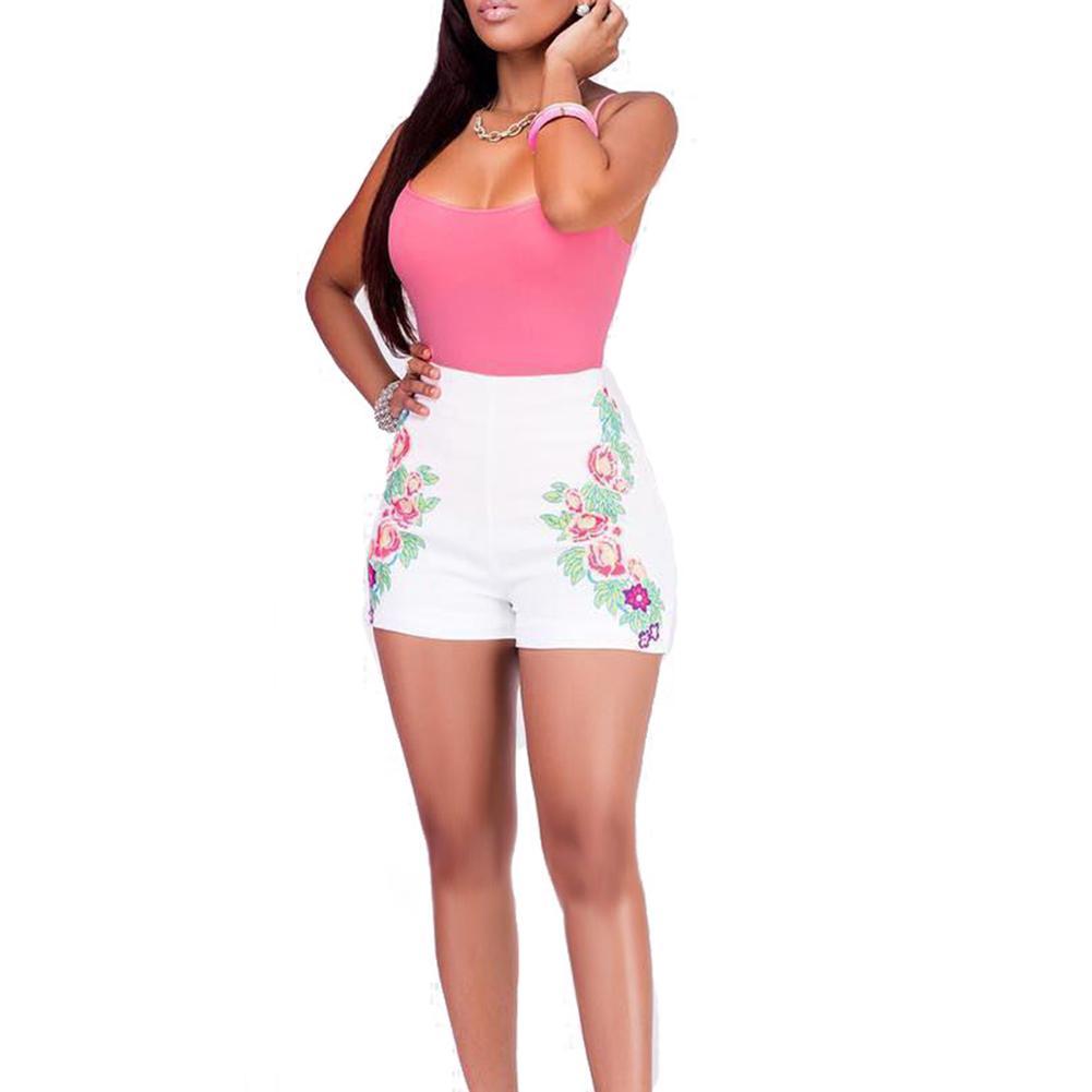 Summer Women Tops Shorts Set Spaghetti Strap Camisole High Waist ... 7cf0a0566