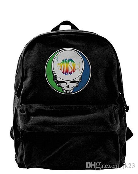 Phish Skull Canvas Shoulder Backpack Cool Backpack For Men   Women ... 247dea35355e7