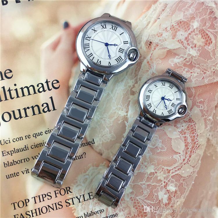 Classique De La Mode Style Femmes / homme Montre Dame Quartz Acier Bracelet Chaîne Simple amant Montre Haute Qualité aaa montres Gentleman livraison gratuite