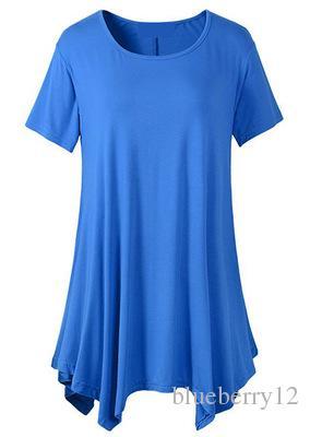 Femelle D'été Long Tee Femmes Uncut Piping T-shirt Scoop Neck Manches Courtes Fille T Shirt Vestidos