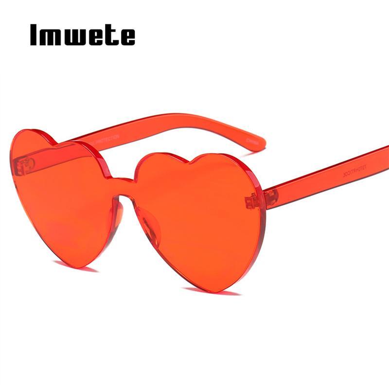 42677a573c Compre Imwete 2018 Gafas De Sol En Forma De Corazón Mujeres Candy Fashion  Cat Eye Gafas De Sol Diseñador Heart Lolita Eyewear Mejores Regalos Para  Niñas A ...