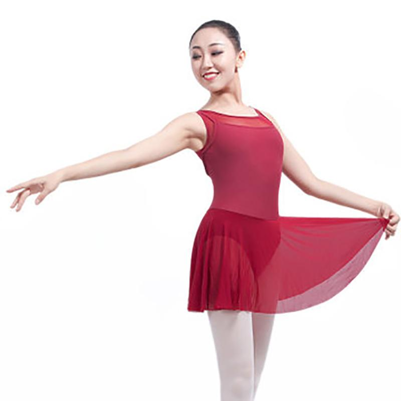 3121e8729a54 2019 New Adult Gymnastics Leotard Skirt Girls Lycra Spandex Ballet ...