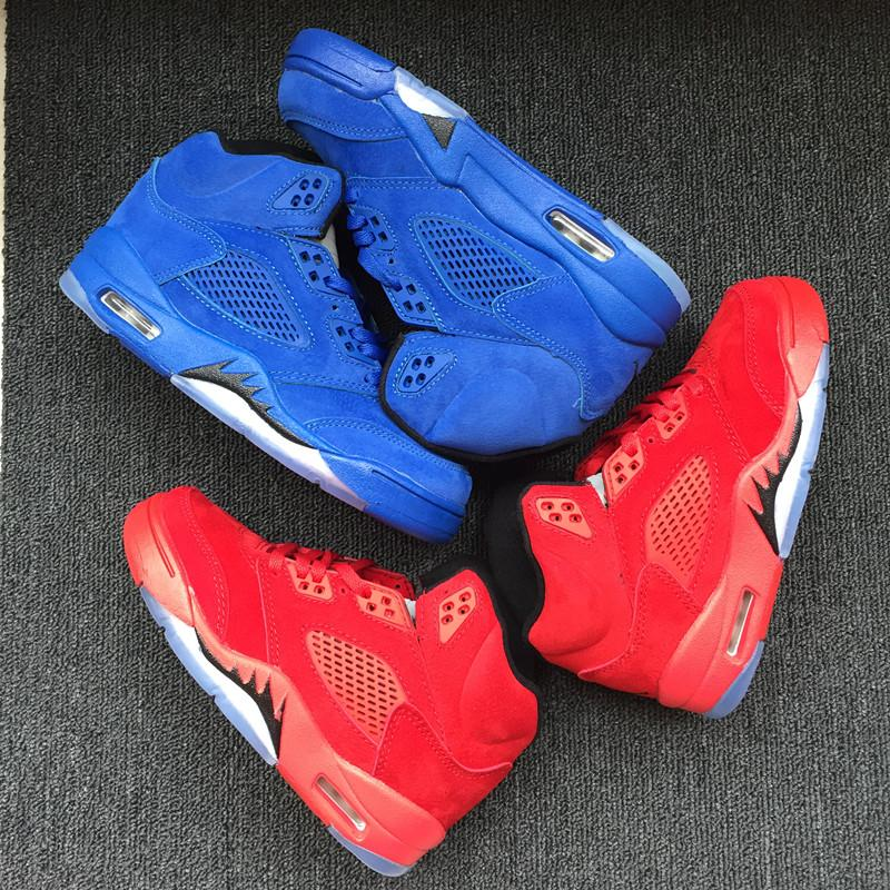 915de3ad461363 Eur28 35 Oreo 5 VII Blue Suede RED Shoes Birthday Gift Wolf Grey Children  Kids Basketball White Camo 2019 Christmas J 5s Sneaker 11c 3Y Gym Shoes For  ...