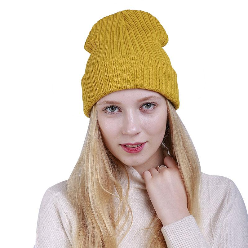04a5b55fc31 2019 New Winter Hats Unisex Women S Cotton Solid Warm Hat HIP HOP Knitted  Cap For Men Women Caps Candy Color Skullies Beanies From Gqinglang