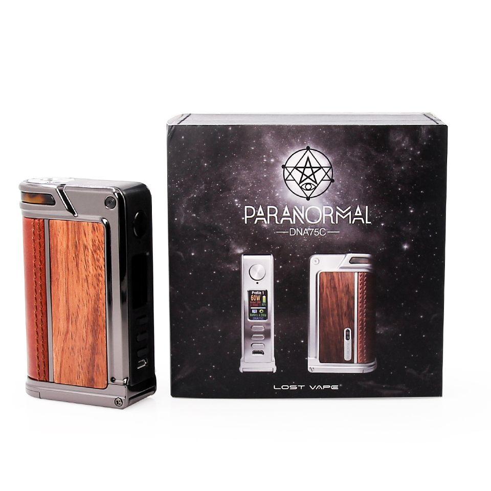 new colors 100% Original Lost vape Paranormal DNA75C Mod 18650 electronic  cigarette mod vaporizer Zinc Alloy Frame