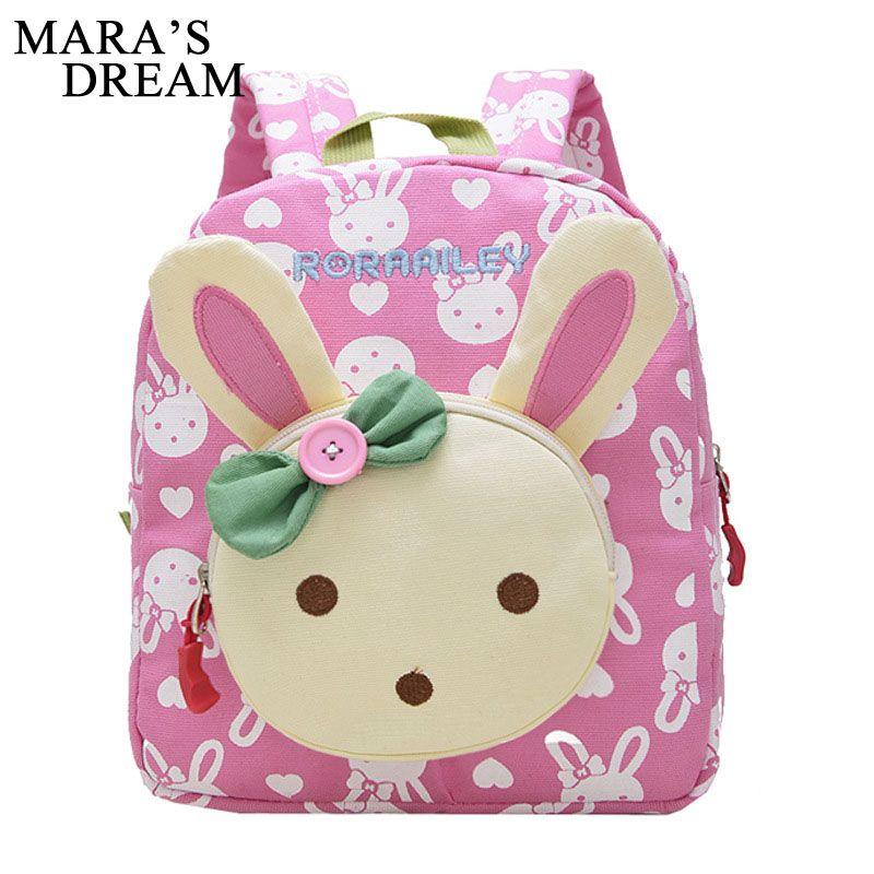 Mara s Dream Lovely Cute Kids School Bags Rabbit Bear Dolls Canvas Backpack  Mini Baby Toddler Book Bag Kindergarten Rucksacks Rucksack Purses From  Keviney 18be98de87606